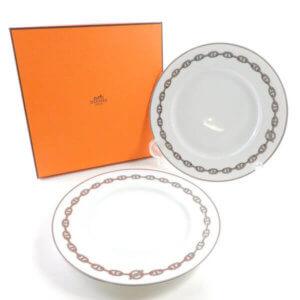 エルメス シェーヌダンクル/大皿(27cm)2枚