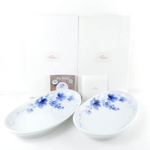 深川製磁 ブルーワイナリー オーバル皿