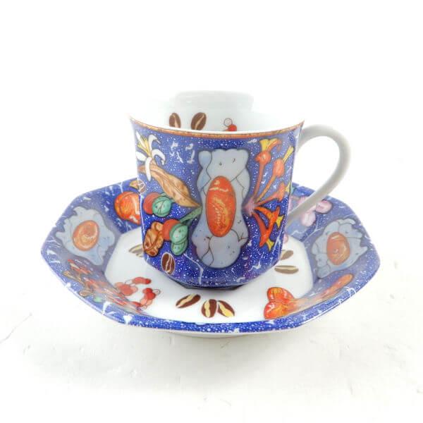 エルメス Marqueterie コーヒーカップ&ソーサー