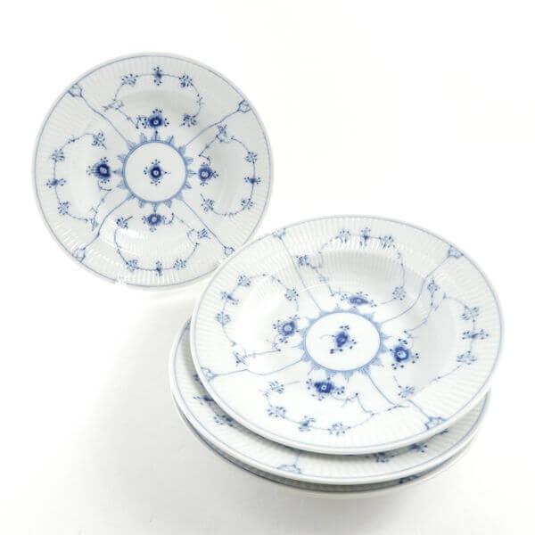 ロイヤルコペンハーゲン ブルーフルーテッドプレイン スープ皿